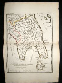 Barthelemy 1790 Antique Map Laconia, Greece